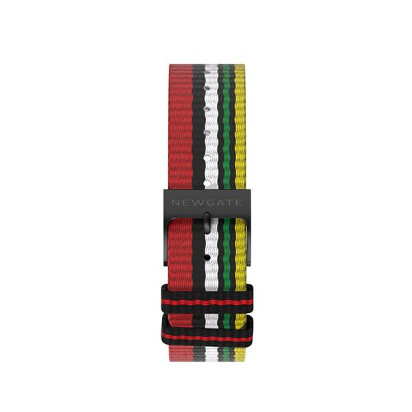 G6 Multicolour Striped Canvas Watch Strap - Socks - Reverse View