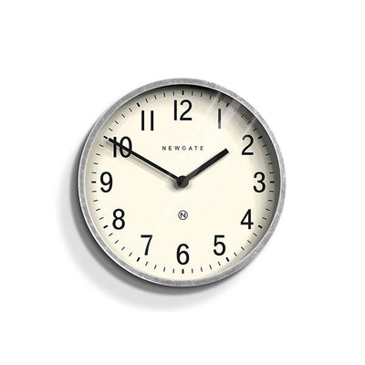 Galvanized Metal Wall Clock - Small - Newgate Master Edwards LUGG371GAL
