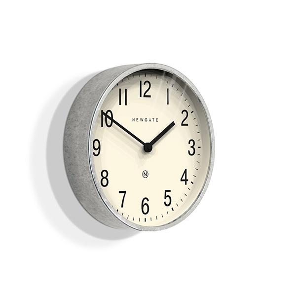 Galvanized Metal Wall Clock - Small - Newgate Master Edwards LUGG371GAL (skew)
