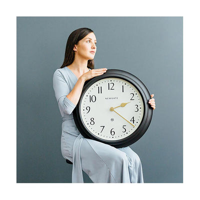 Large Decorative Dark Grey Wall Clock - Newgate Westhampton WEST117GGY (lifestyle) 1 copy