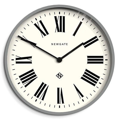 Large Grey Roman Numeral Wall Clock - Newgate Italian NUMONE148PGY