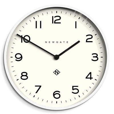 Large Modern White Kitchen Wall Clock - Minimalist - Newgate Echo NUMONE149PW