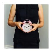Modern Alarm Clock - Bright Colour Pink - Silent 'No Tick' - Newgate Echo CBM134MPK (lifestyle) 1
