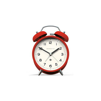 Modern Alarm Clock - Bright Colour Red - Silent 'No Tick' - Newgate Echo CBM134FER
