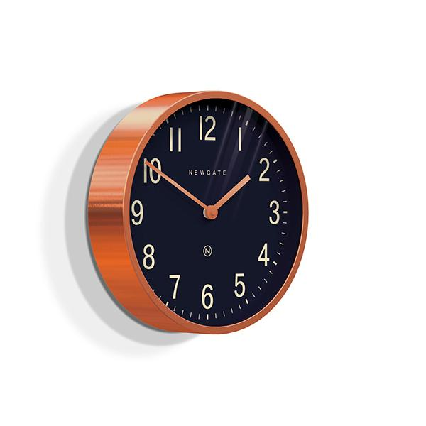 Modern Copper Wall Clock - Small - Newgate Master Edwards LUGG372RAC (skew)