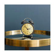 Modern Grey Twin Bell Alarm Clock - Brass Dial - Newgate Charlie Bell CBM39GGY (room decor)