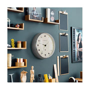 Modern Metal Wall Clock - Silver Steel - Silent 'No Tick' - Newgate Chrysler WAT406BSS (homeware) 1 copy