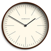 Modern Minimalist Wall Clock - Extra-Large Dark Plywood - Newgate Mr Clarke MRC160DPLY53