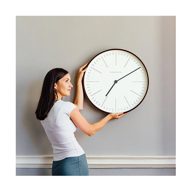 Modern Minimalist Wall Clock - Extra-Large Dark Plywood - Newgate Mr Clarke MRC160DPLY53 (lifestyle) 1 copy