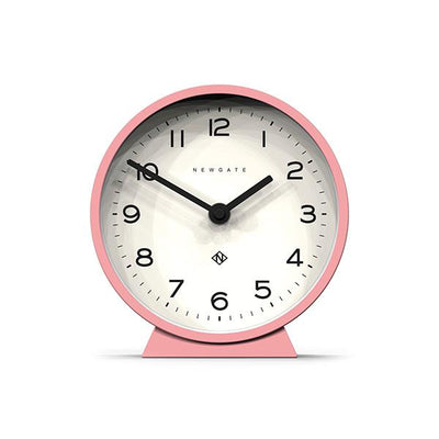 Modern Pink Mantel Clock - Colourful Contemporary - Newgate MMAN678MPK