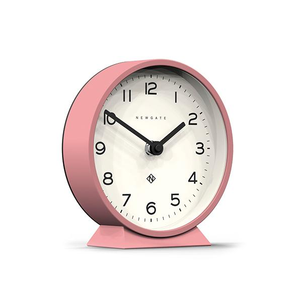 Modern Pink Mantel Clock - Colourful Contemporary - Newgate MMAN678MPK (skew)