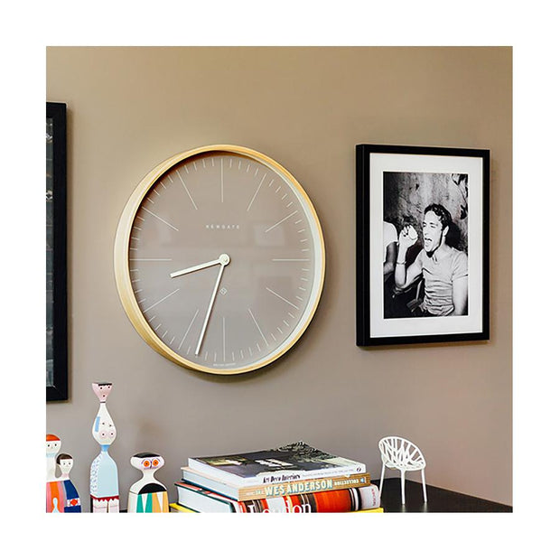 Modern Scandi Wall Clock - Large Plywood & Grey - Newgate Mr Clarke MRC147PLY53 (homeware) 1 copy