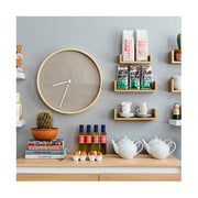 Modern Scandi Wall Clock - Large Plywood & Grey - Newgate Mr Clarke MRC147PLY53 (room decor) 1 copy