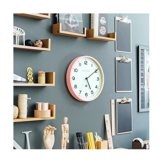 Modern Wall Clock - Bright Colour Pink - Newgate Echo NUMTHR129MPK (homeware) 1 copy