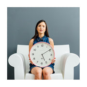 Modern Wall Clock - Bright Colour Pink - Newgate Echo NUMTHR129MPK (lifestyle) 1 copy