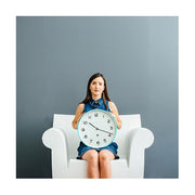 Modern Wall Clock - Bright Colour Turquoise Blue - Newgate Echo NUMTHR129AM (lifestyle) 1 copy