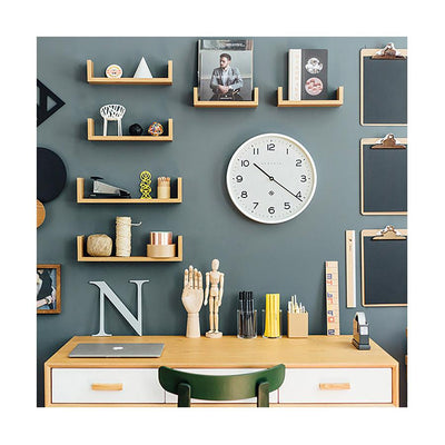 Modern White Wall Clock - Minimalist - Newgate Echo NUMTHR129PW (room decor) 1 copy