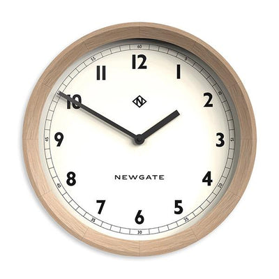 Modern Wood Wall Clock – Solid Oak – Newgate – General GEN648LO