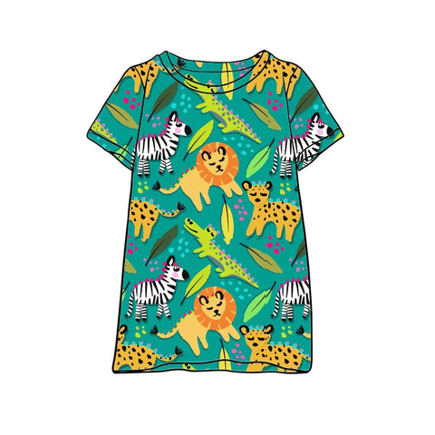 Animal Festival T-Shirt Dress