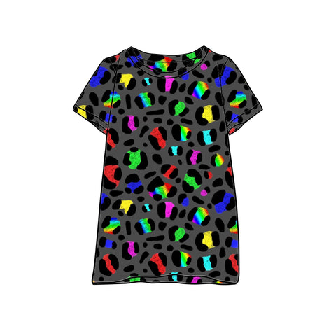 Neon Leopard T-Shirt Dress