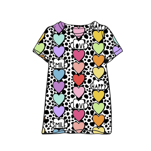 Dalmatian Hearts T-Shirt Dress
