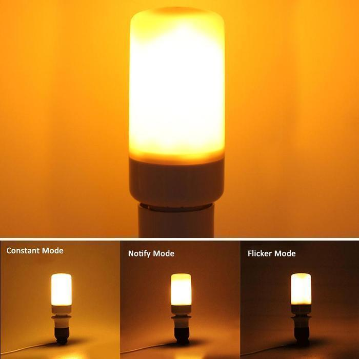 LED Flame Effect Flickering Fire Light Bulb with Gravity Sensor - 50%OFF.