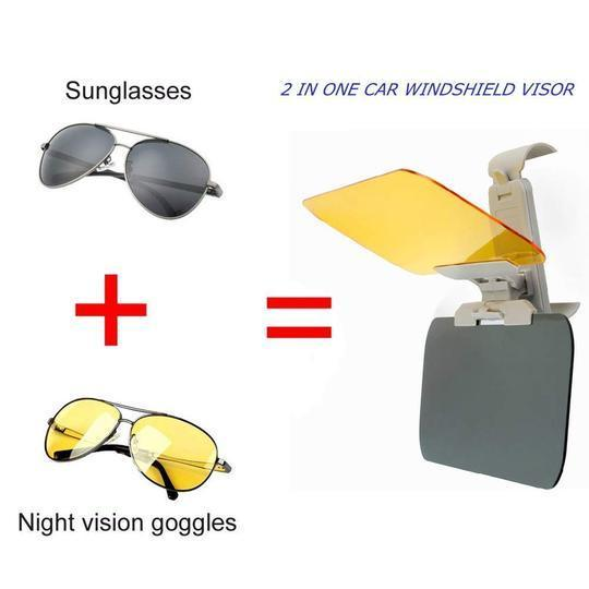 Car Day and Night Transparent Sun Visor,Anti-UV