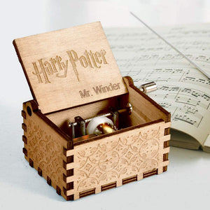 Hand carved-Music Box for Hedwig Theme