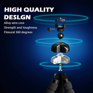 Phone Tripod,Adjustable Camera Stand Holder,Compatible with iPhone, Android Phone,Camera(2018 New Version).