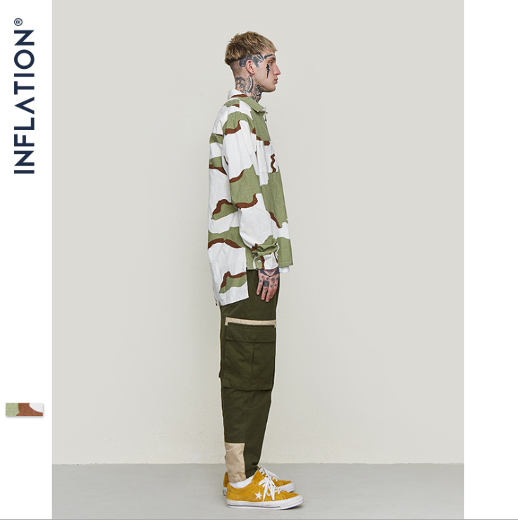 INF™ 2019 Camouflage Short Front And Long Back Men's Shirt