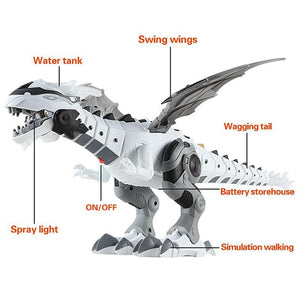 Breathing&Walking dinosaur toy