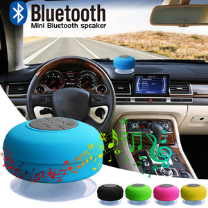 Suction cup waterproof wireless bluetooth audio