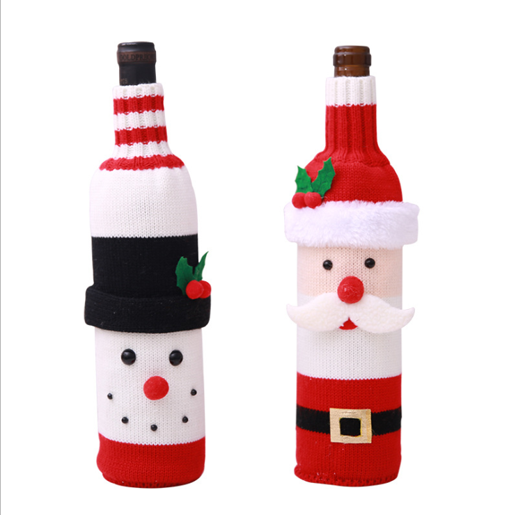Christmas Wine Bottle Clothes