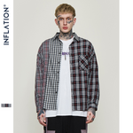 INF™ 2019  Plaid Stitching Men's Shirt