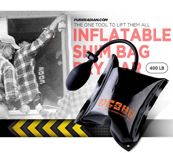INFLATABLE SHIM BAG / PRY BAR( 400 LB RATING )