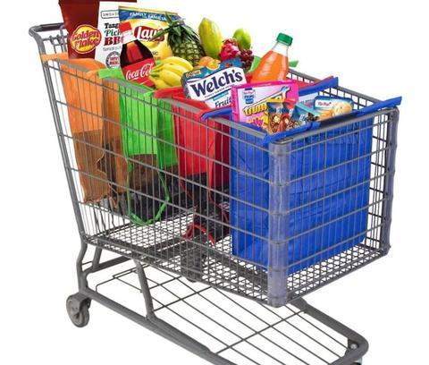 Free Shipping Worldwide- 4-IN-1 REUSABLE ECO FRIENDLY GROCERY BAGS DESIGNED FOR TROLLEY CARTS