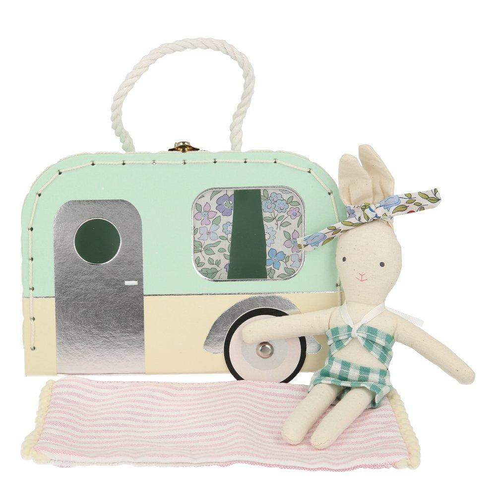 Doll and Mini Suitcase - Caravan Bunny