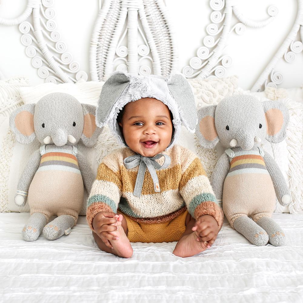 Cuddle + Kind Evan The Elephant - Little Doll 13""