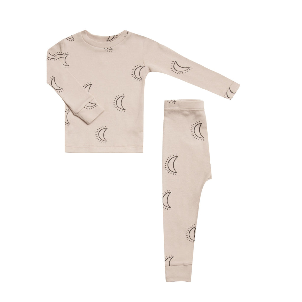 Organic Cotton Pajama Set - Moons