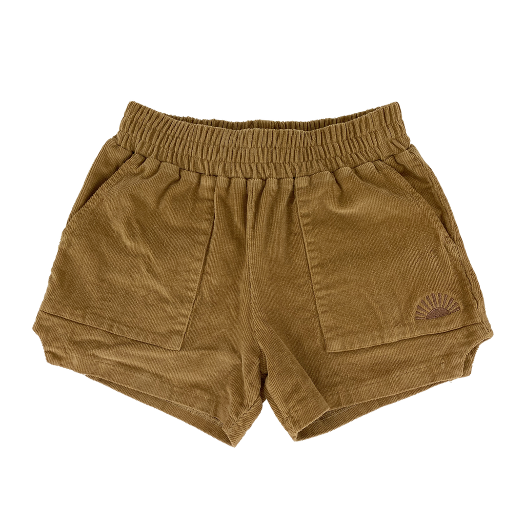 Tiny Whales Dad Shorts Camel