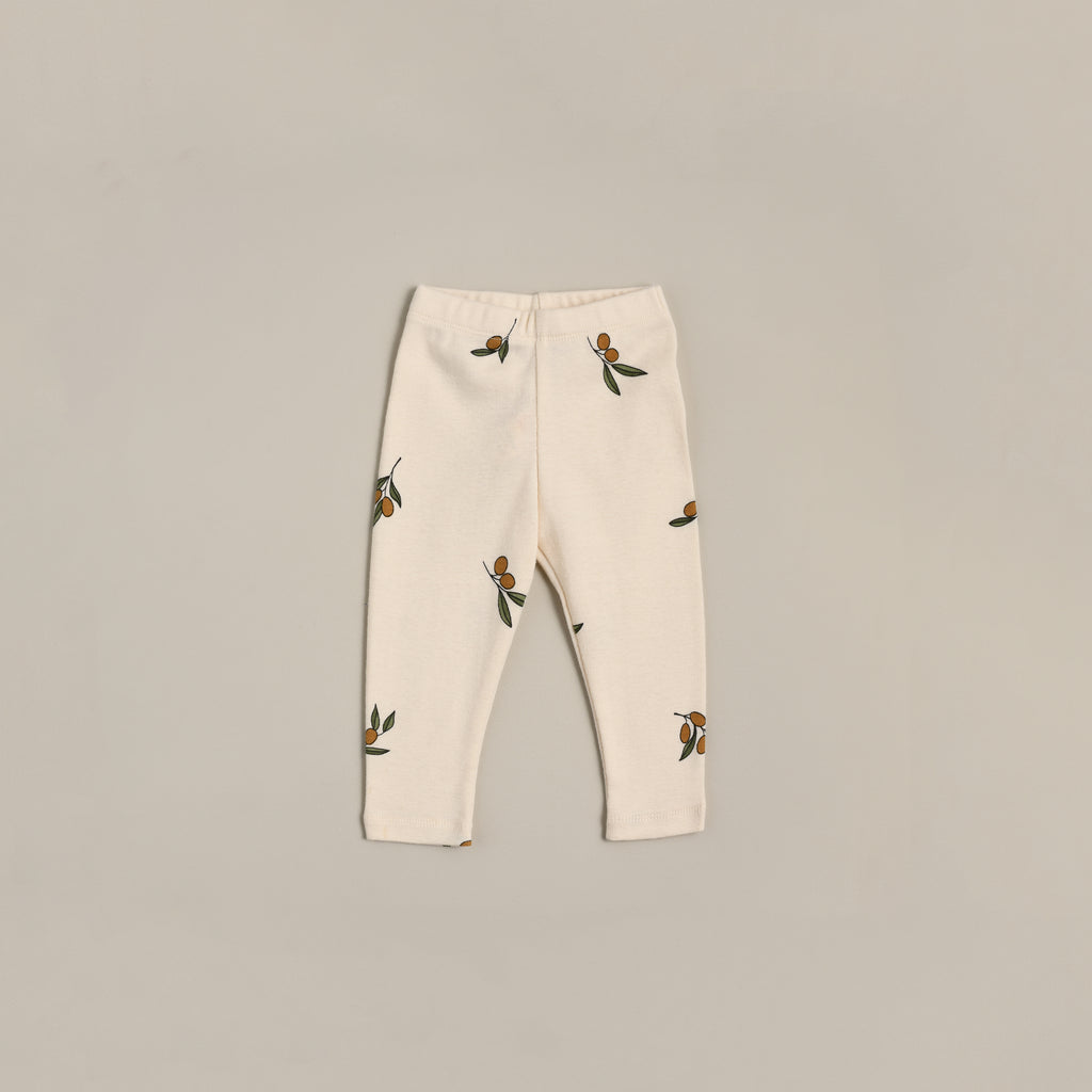 Organic Zoo Leggings - Olive Garden