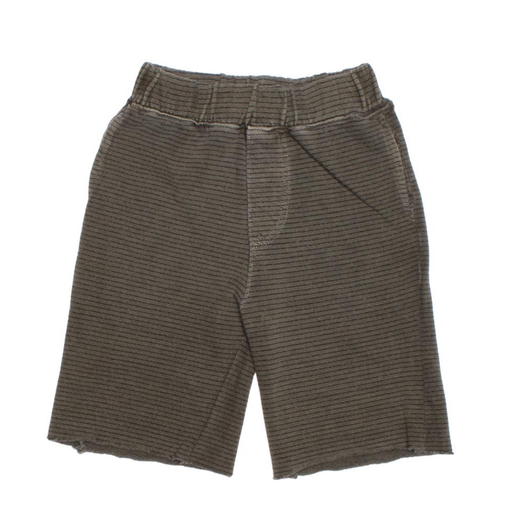 Mikey Striped Short - Olive