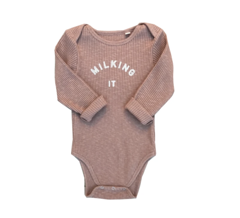 Milking It Body Suit - Pink Clay