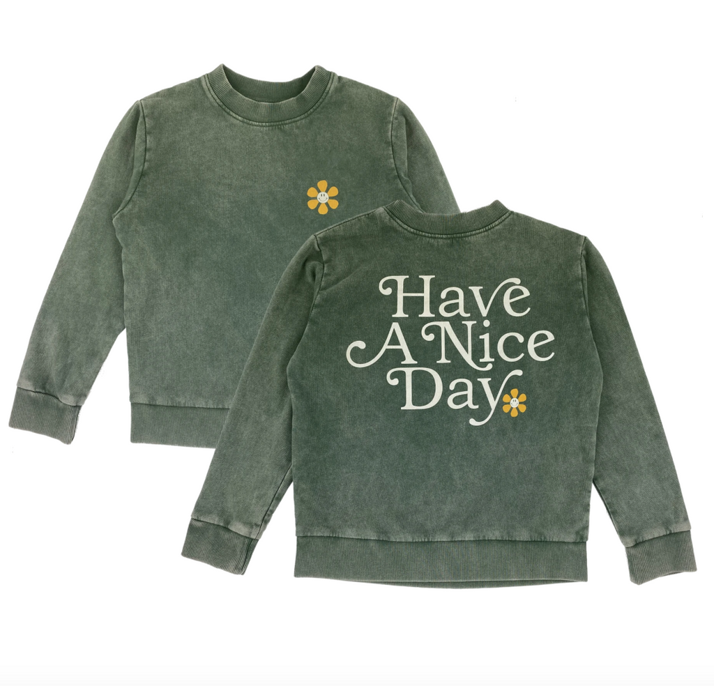 Have a Nice Day Boxy Sweatshirt