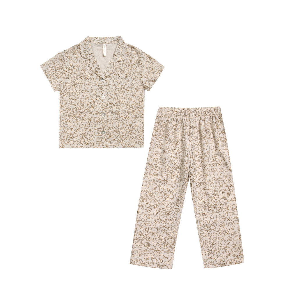 Cotton Crepe Pajama Set - Garden