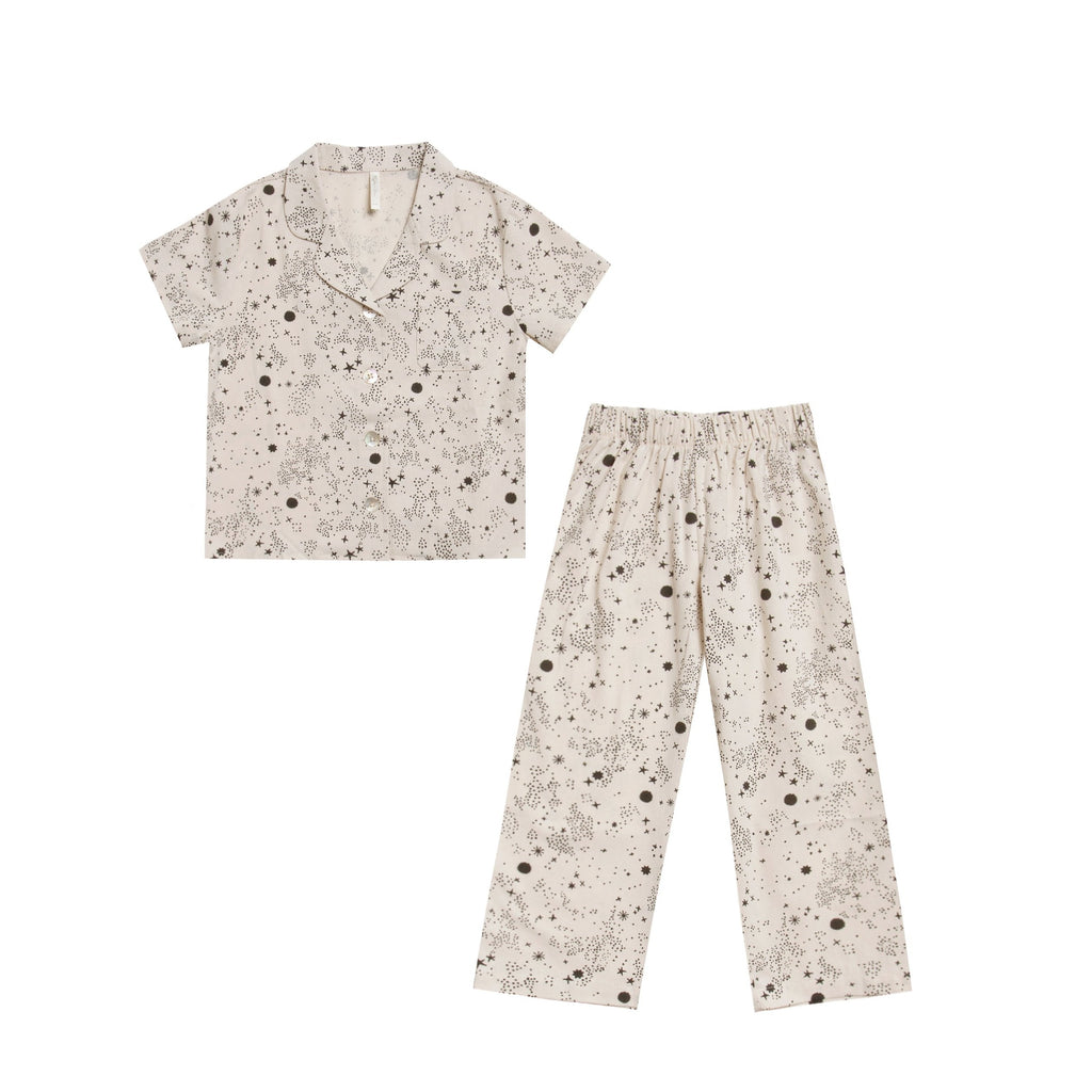 Cotton Crepe Pajama Set - Stardust