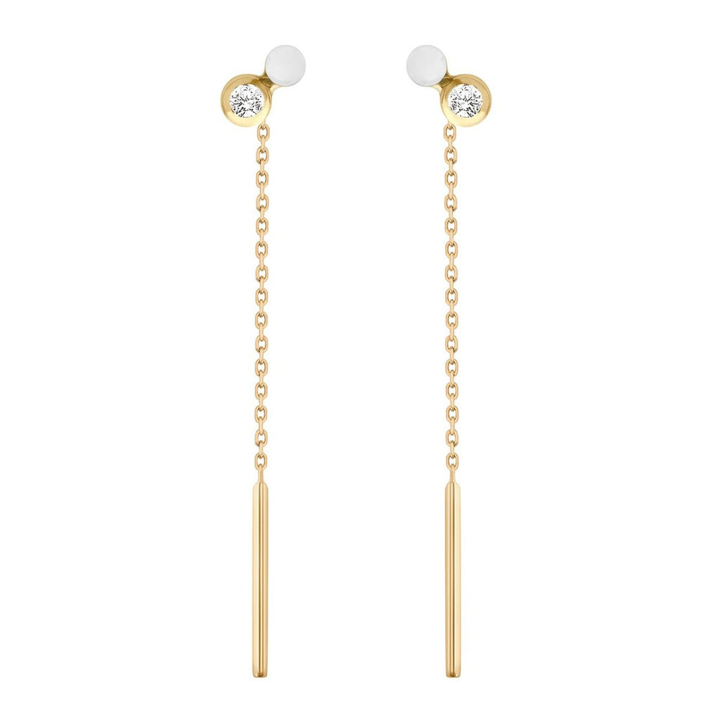 Dot Earring Single 18K Gold Diamond