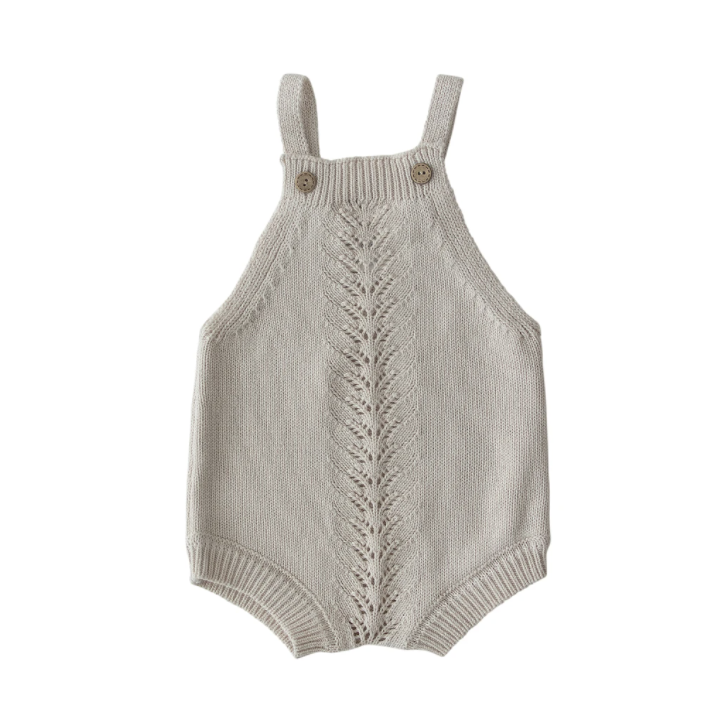 Mebie Baby Embellished Knit Romper - Cream