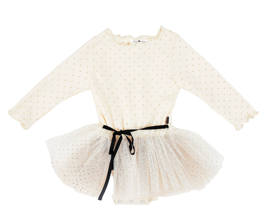 Dot Sha Tutu Dress - Cream