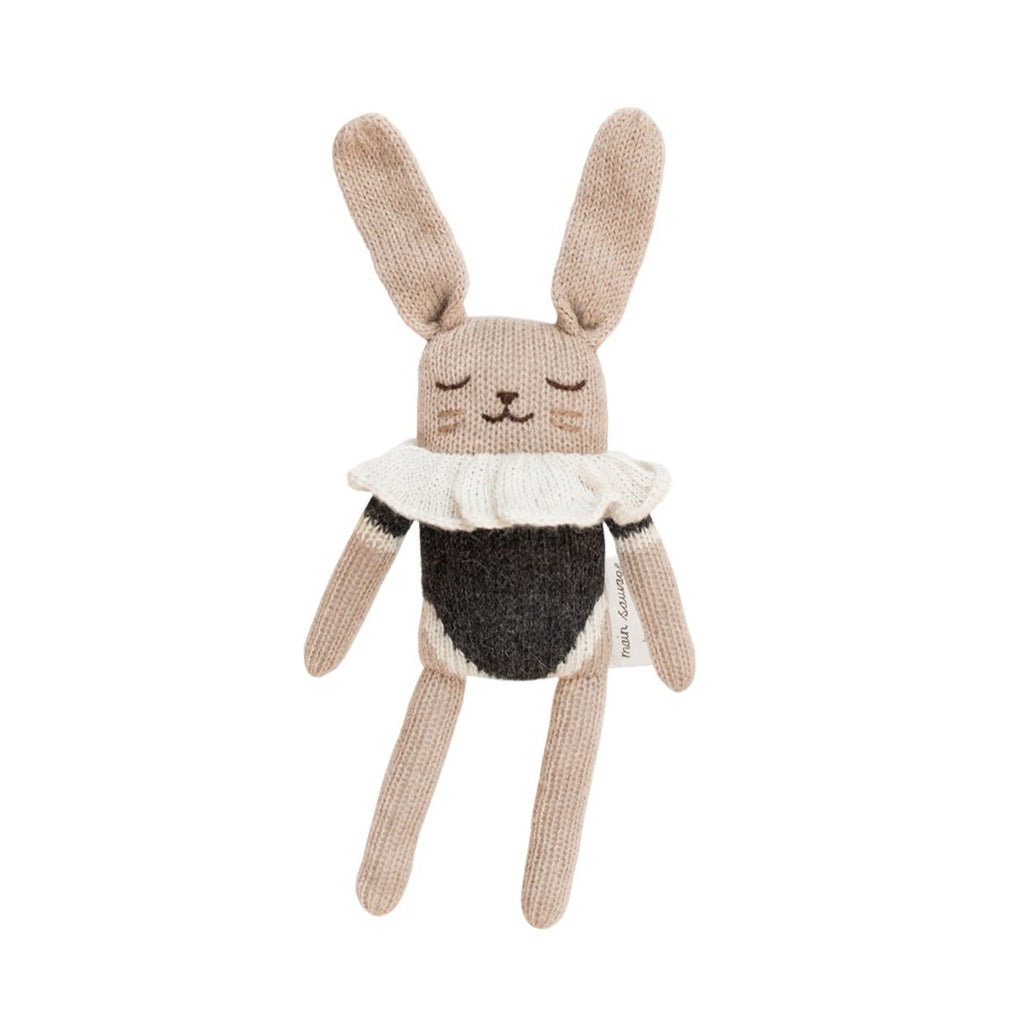 Bunny Soft Knit Toy - Black Bodysuit